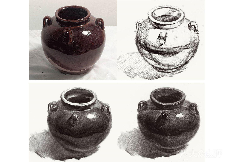 素描——陶罐结构及调子讲解