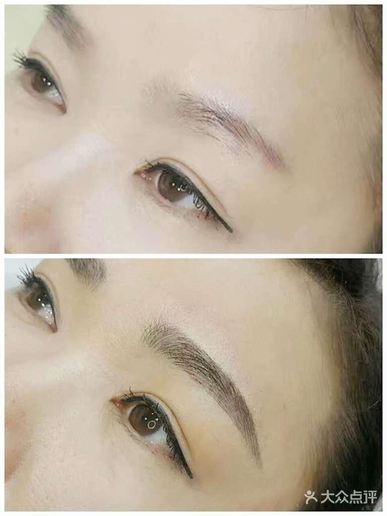 韩式半永久根状眉(淡妆眉)+美瞳线