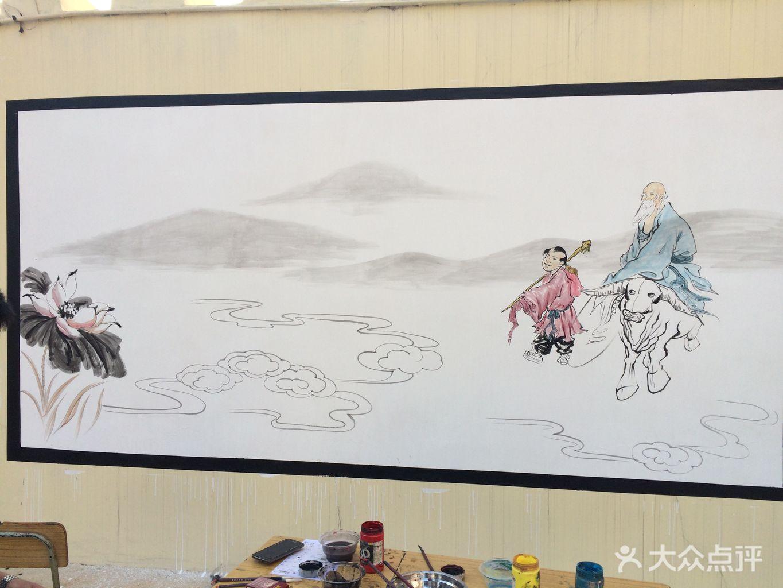画画室墙面绘画
