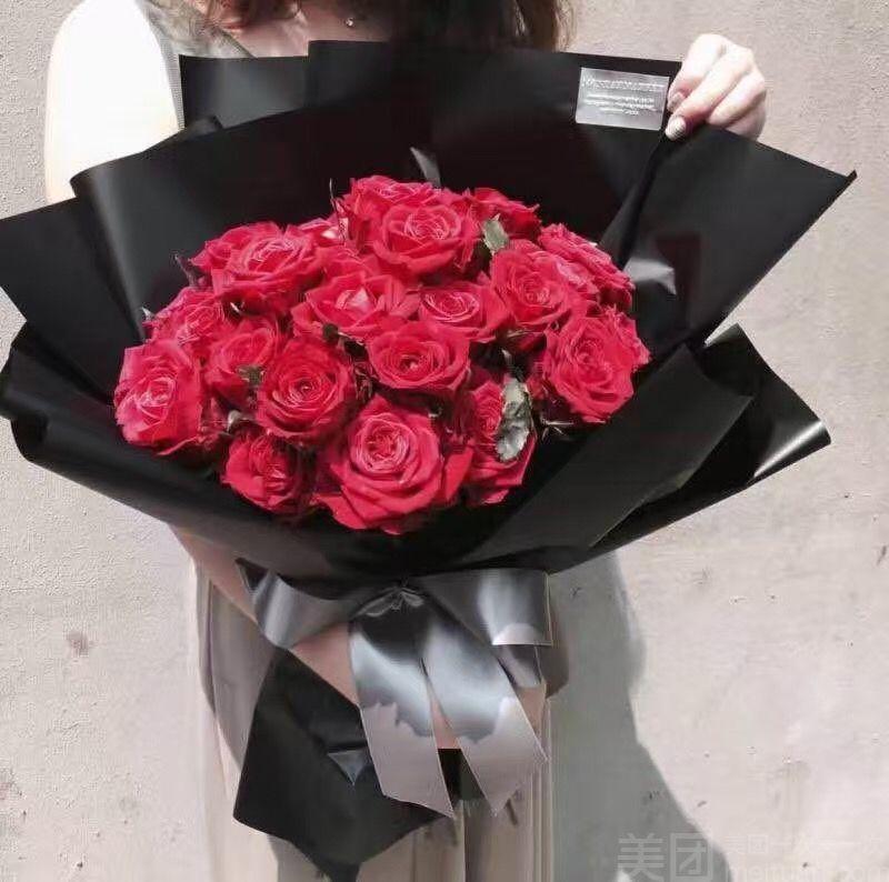 :长沙今日团购:【森屿树花艺生活馆】21朵红玫瑰