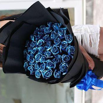 【北京等】急派鲜花丨33朵蓝色妖姬+派头十足+浪漫激情+更多款式随便选-美团
