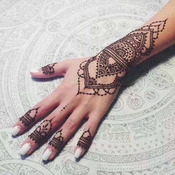 【古城坊海娜手绘美甲脏辫纹身】个性印度海娜15天手绘纹身