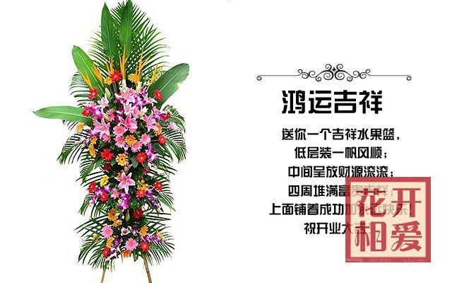 :长沙今日团购:【花开相爱】开业花篮鸿运吉祥