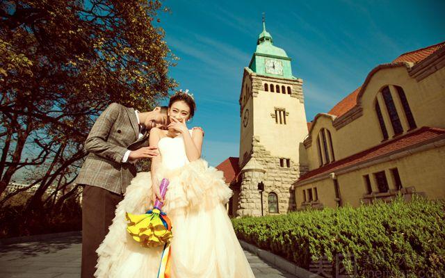 欧式婚纱风景图片