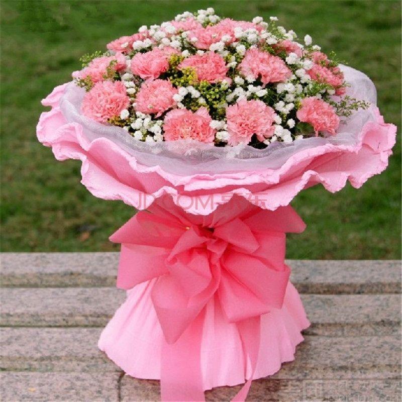 满天星康乃馨花束图片