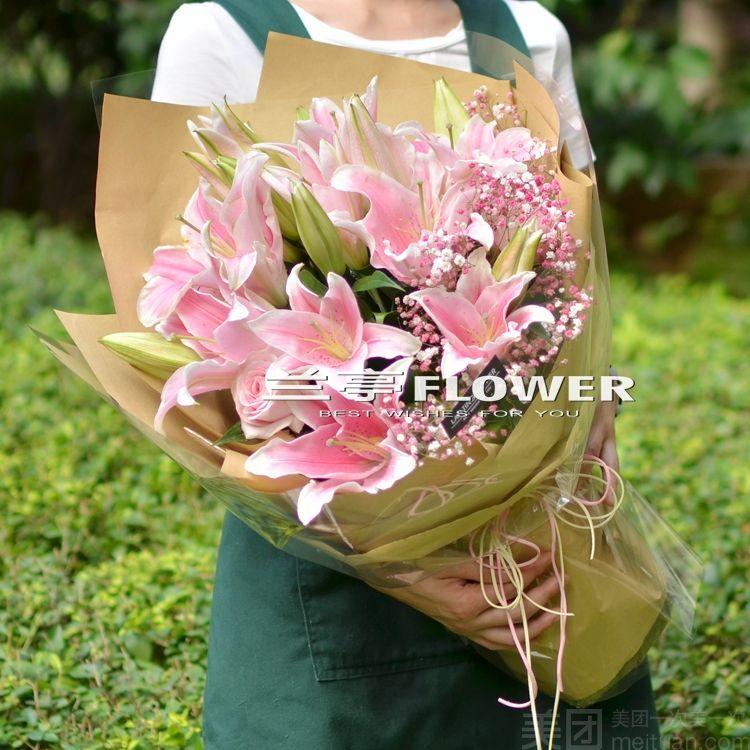 :长沙今日团购:【兰亭FLOWER】香水百合花束长沙鲜花同城速递