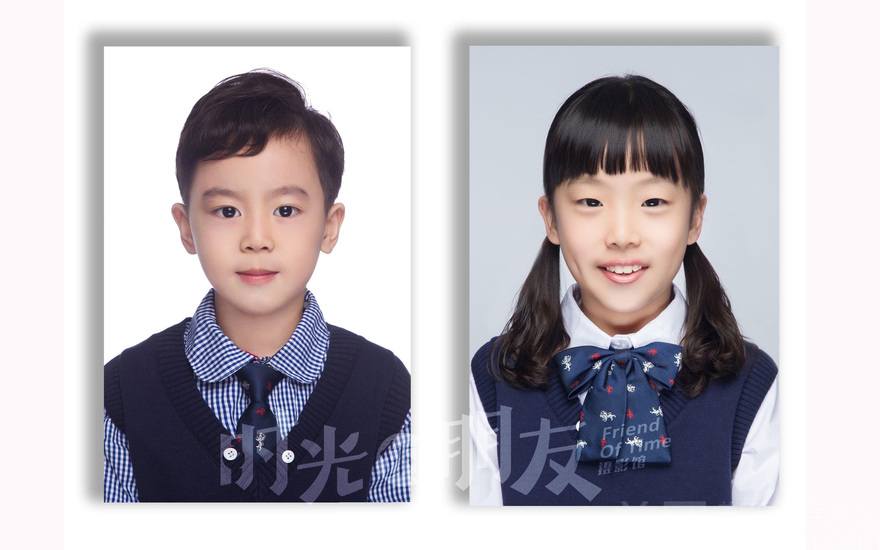 【时光的朋友摄影馆】儿童精致证件照/纪念照