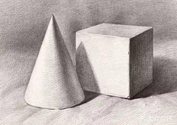 正方体和圆锥体组合 示范