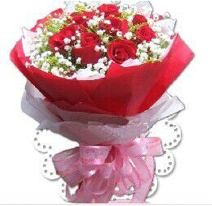 【木桐鲜花团购】义乌木桐鲜花-玫瑰花束(11枝)团购