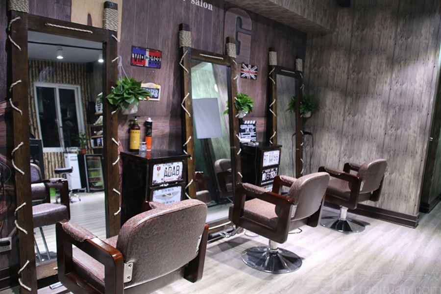 理发店棚顶设计图片