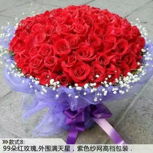 :长沙今日团购:【婉婉花苑】99朵玫瑰花