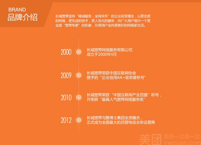 【长城宽带团购】长城宽带-33m宽带一年体验团购优惠