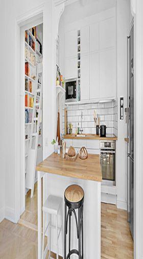 70平米复式北欧风格厨房图片大全