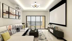 經濟型90平米三室兩廳現代簡約風格客廳圖