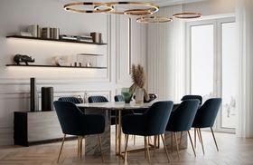 20萬以上140平米四室兩廳現代簡約風格餐廳設計圖