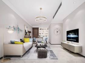 10-15萬70平米現代簡約風格客廳欣賞圖