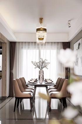 豪華型110平米四室兩廳中式風格餐廳裝修圖片大全
