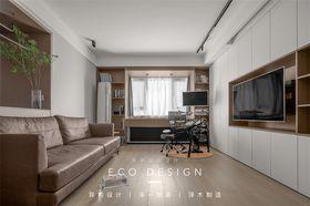 富裕型120平米三現代簡約風格客廳裝修案例