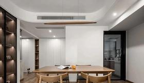 15-20萬100平米三室一廳現代簡約風格餐廳裝修效果圖