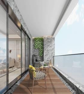 豪華型140平米四現代簡約風格陽臺設計圖