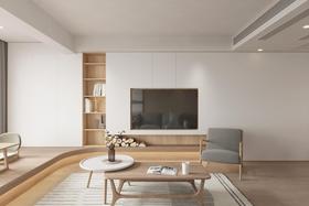 10-15萬100平米三室兩廳日式風格客廳裝修效果圖