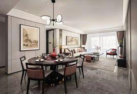 豪華型140平米三室兩廳中式風格餐廳圖片大全