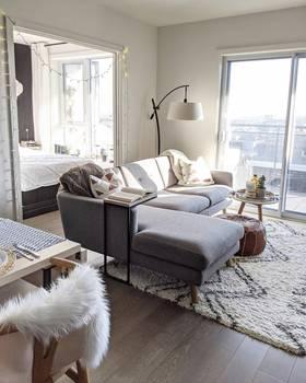 5-10萬40平米小戶型現代簡約風格客廳圖片