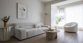 120平米三室兩廳輕奢風格客廳裝修圖片大全