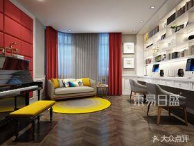 140平米別墅美式風格書房裝修圖片大全