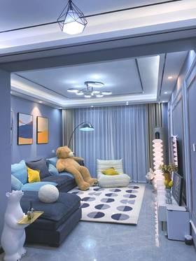 10-15萬130平米三室兩廳現代簡約風格客廳欣賞圖