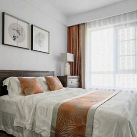 富裕型100平米三室兩廳中式風格臥室圖片