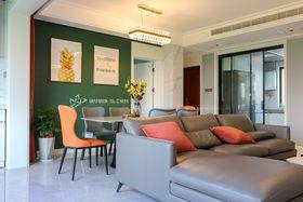 140平米三室兩廳現代簡約風格客廳圖片