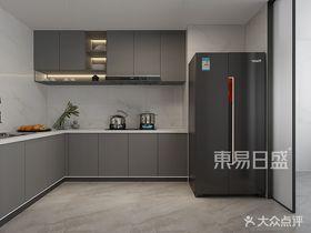 120平米三室兩廳現代簡約風格廚房設計圖