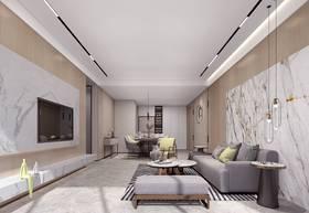 富裕型90平米三現代簡約風格客廳裝修圖片大全
