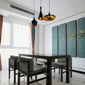 富裕型100平米三室兩廳中式風格餐廳裝修案例