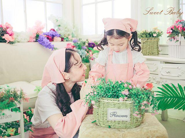 韓國sweet baby親子兒童攝影的圖片