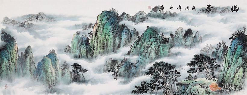 五岳之首泰山图 宋唐最新六尺横幅新品《幽居》