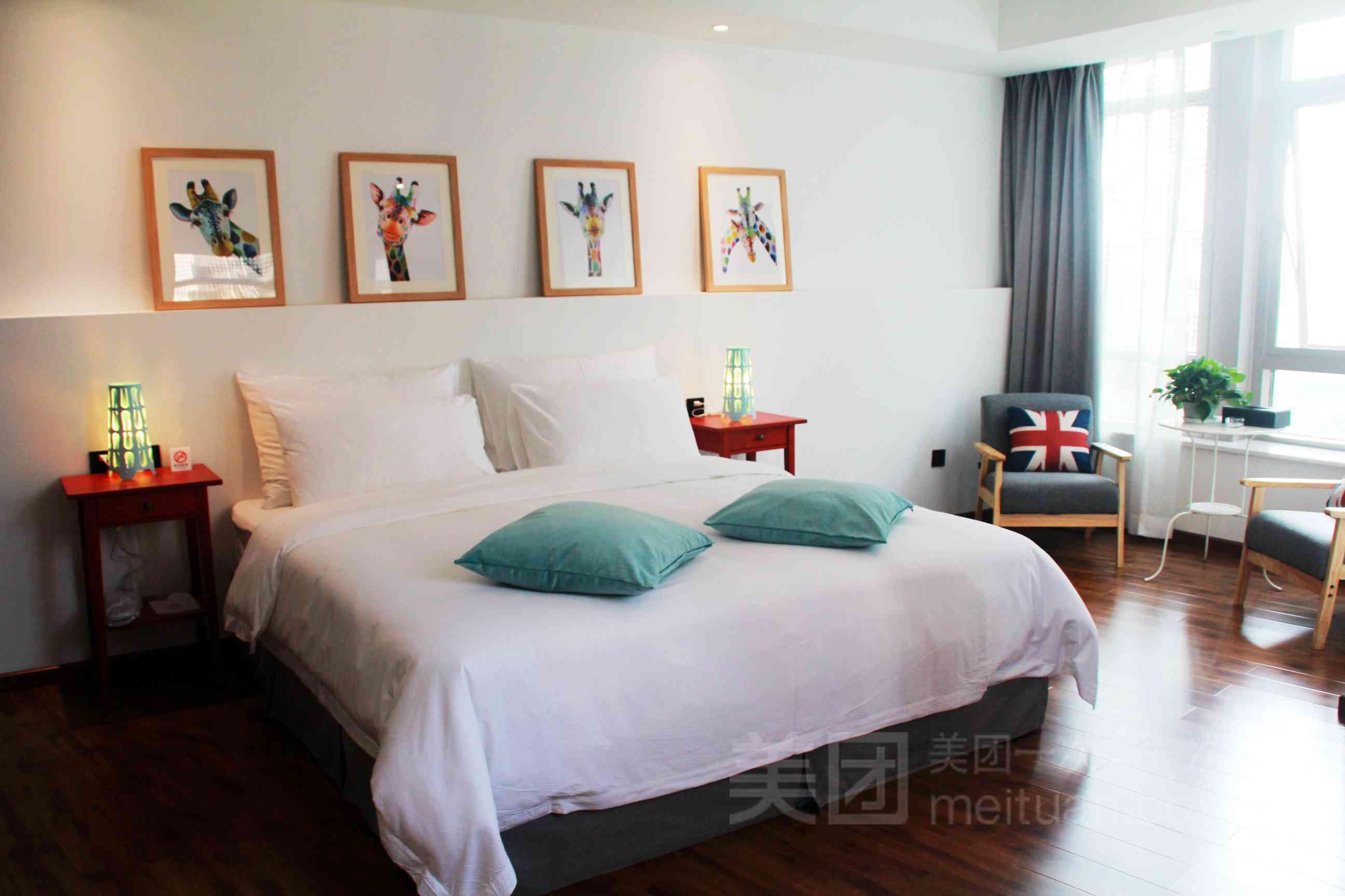 纳维亚酒店北欧风格的装修设计简单大方,选用宜家家居,小林寑饰,玮瓓