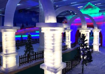 【美好易居城】泰州冰雪科幻主题乐园(5项票)成人票-美团