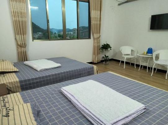 江永望山楼民宿房间设计简单而不失格调干净且温馨近上甘棠博物馆