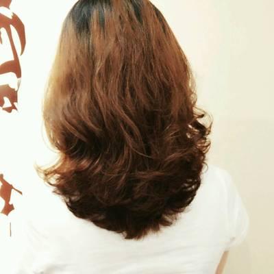 丽人 美发图库 永久性烫发作品图  4813 创意烫发 中发 女图片