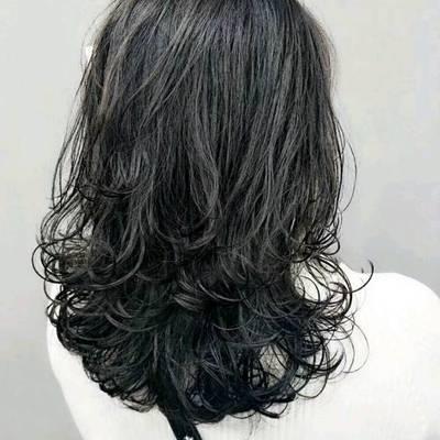 丽人 美发图库 长发大卷作品图  6825 创意烫发 女 长发图片