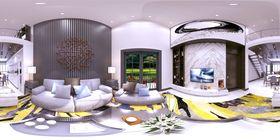 140平米复式null风格客厅效果图