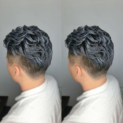 丽人 美发图库 男式纹理烫效果图  9488 创意烫发 男 短发图片
