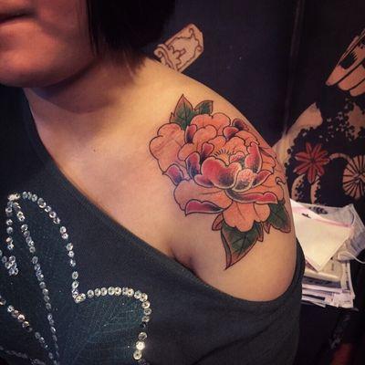 肩花纹身图-大众点评纹身图案大全