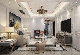 130平米四null风格客厅设计图