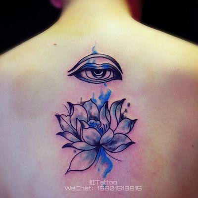 佛眼莲花纹身图-大众点评纹身图案大全