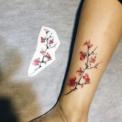 梅花纹身图-大众点评纹身图案大全