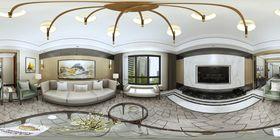 140平米三null风格客厅图