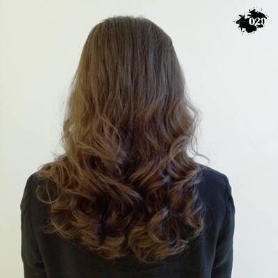 丽人 美发图库 电发作品图  4923 创意烫发 女 吹造型 专业精剪 长发图片